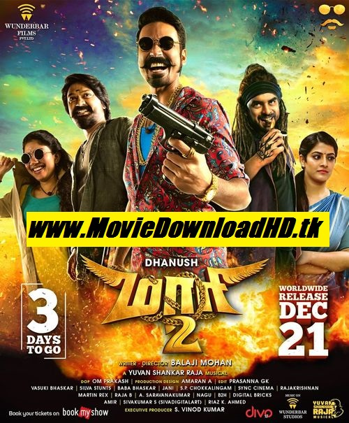 Maari 2 (2018 Hindi Dubbed Full Movie Download 720p WEB-DL Esubs 1.2Gb