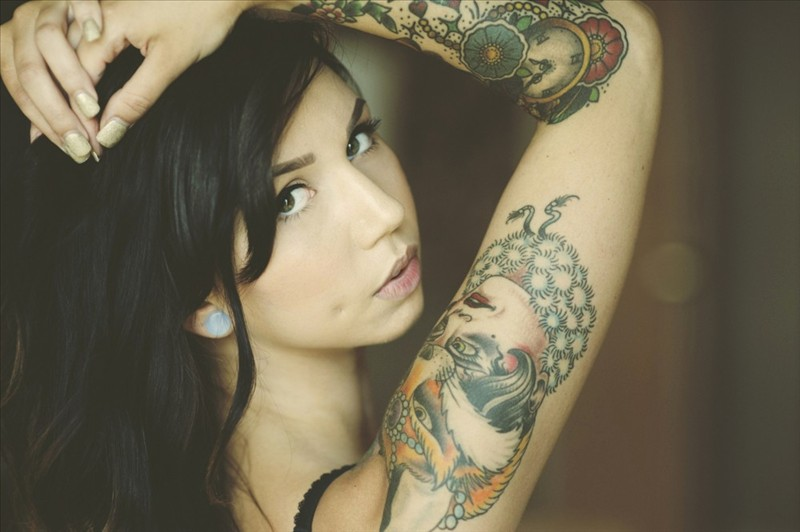 Compilation of sexy girls with tattoos