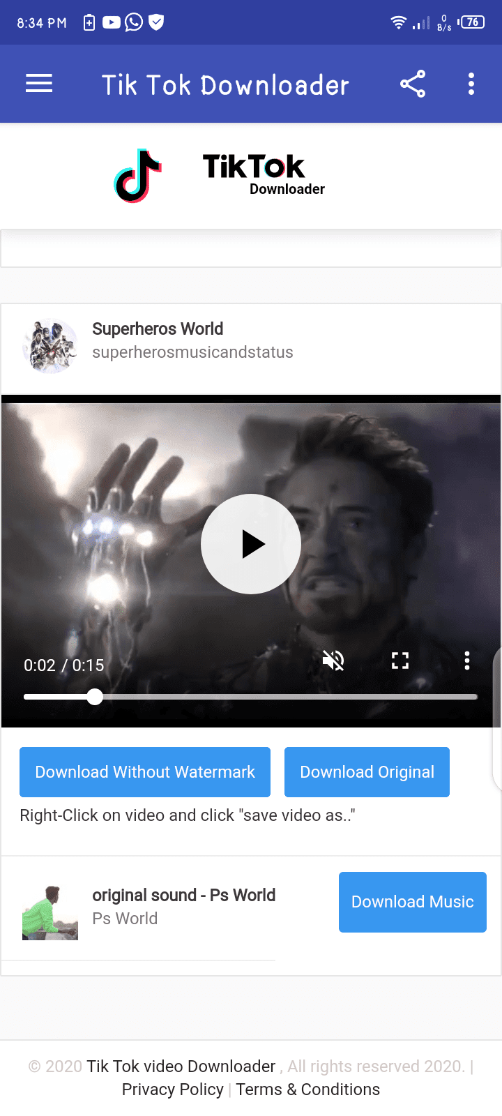 Tik Tok Video Download Without Watermark [Full Unlocked] 3