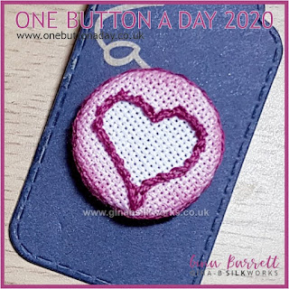 One Button a Day 2020 by Gina Barrett - Day 84: Virtual Hug