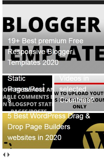 Stylish Best Auto Scrolling Recent Posts Widget with Image Thumbnails for Blogger