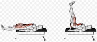 Bench leg raise exercise