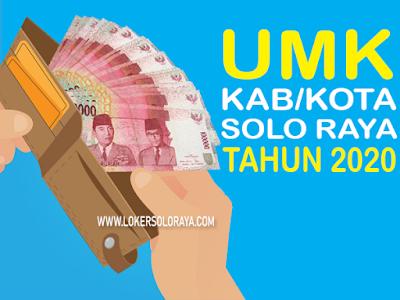 Daftar UMK Kabupaten / Kota se Solo Raya Tahun 2020