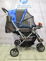 rebah Kereta Dorong Bayi BabyDoes CH278 Parade-X Roda 3 Hadap Depan atau Belakang