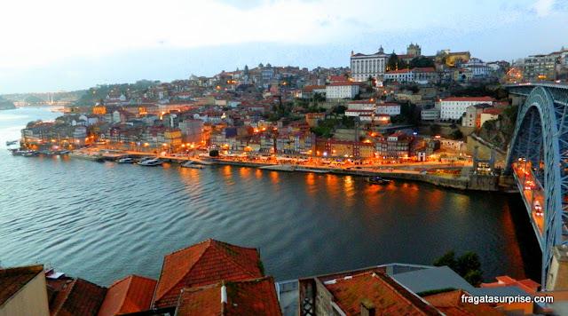 Cidade do Porto, Portugal, vista da estação do teleférico de Vila Nova de Gaia)
