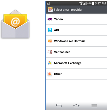 HU Email on Android Devices -- using Email App   Harding University
