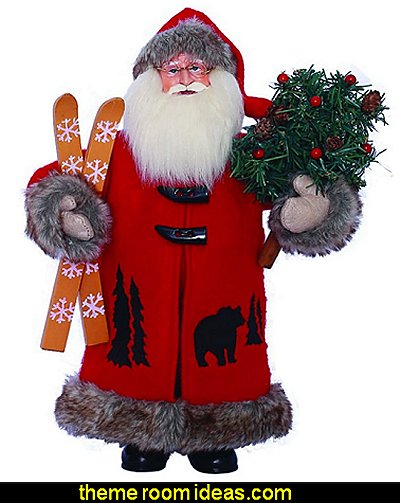Santa Figurine Santas Workshop Christmas decorations christmas ornaments christmas decorating