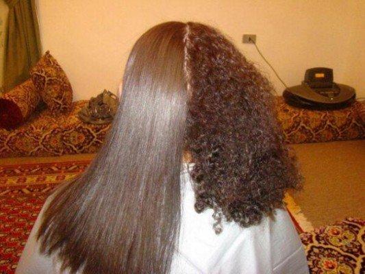 وصفة طبيعية لفرد الشعر وإصلاحه