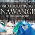 What to Bring to Anawangin (or any camping trip)