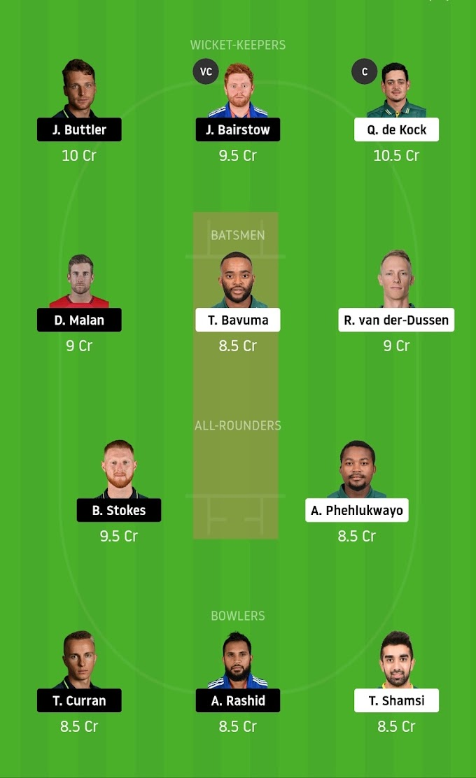 South Africa vs England 1st T20 Match : Best Dream 11 Prediction And Tips