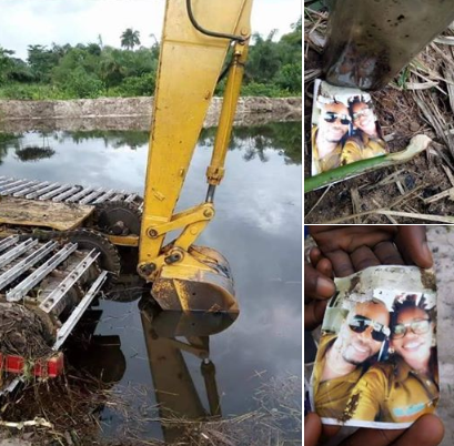 Couple's Photo Found Inside A Bottle During An Excavation Process In Rivers State