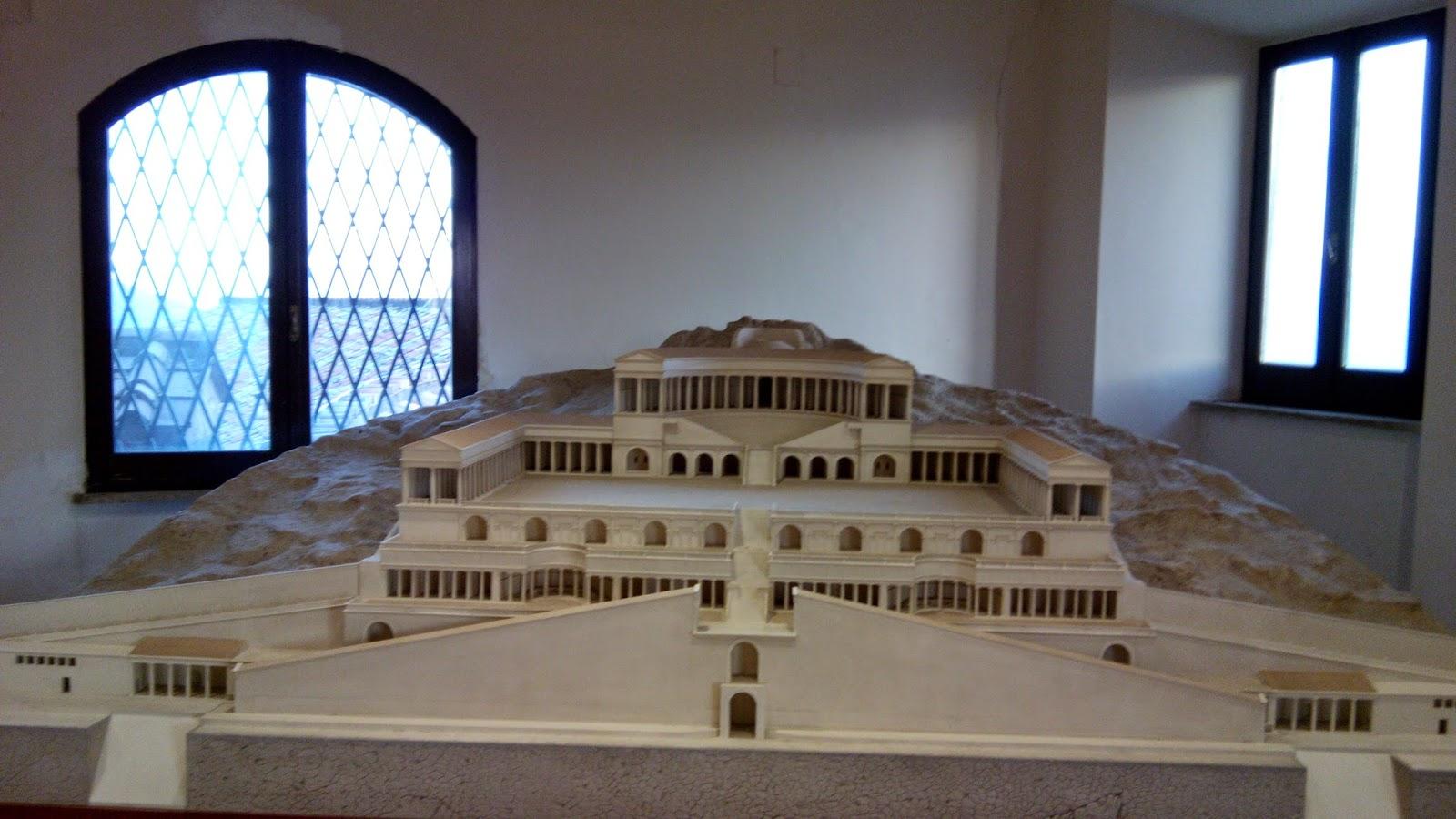 Modelo do antigo santuário de Palerstrina