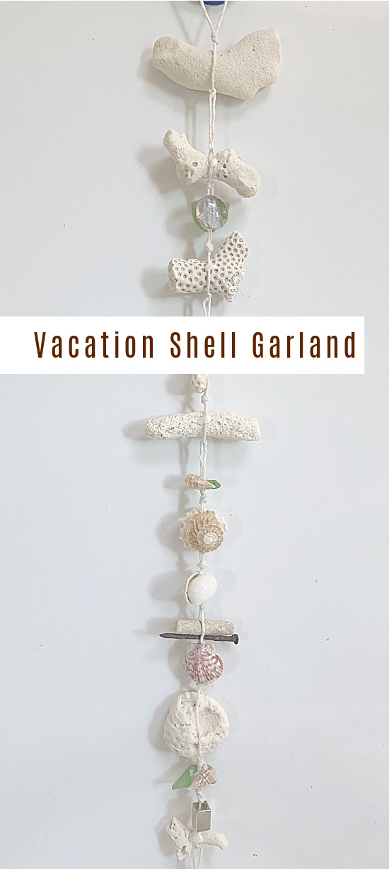 Vacation garland with overlay