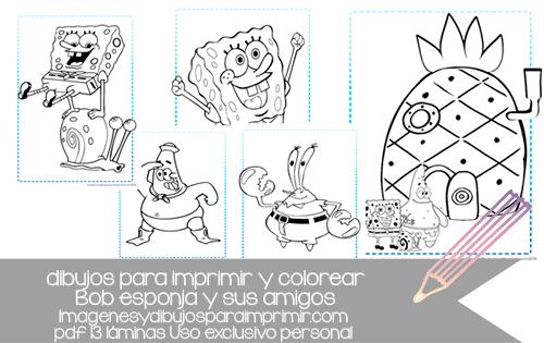 Dibujos Para Colorear De Bob Esponja Bebe: Imagenes Y Dibujos Para Imprimir