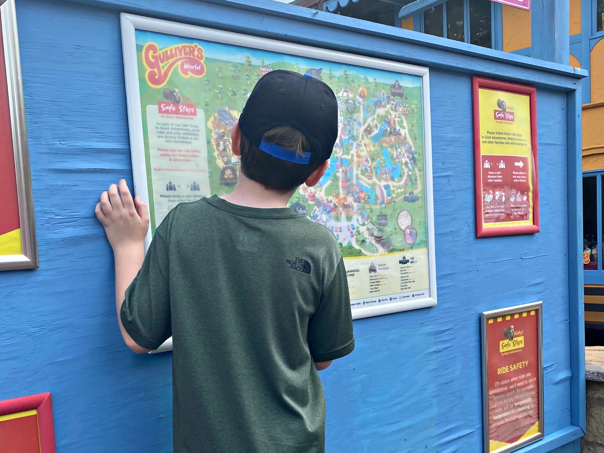 boy looking at map