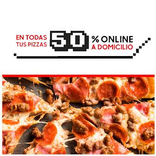 Todas la Pizzas a mitad de precio