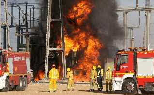 Què passa quan es produeix un incendi en un transformador de la subestació
