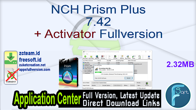 NCH Prism Plus 7.42 + Activator Fullversion