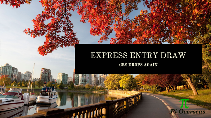 Express Entry Draw: CRS Score Drops Again