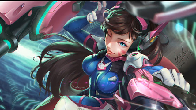 D.VA OVERWATCH PISTOL WALLPAPER ENGINE