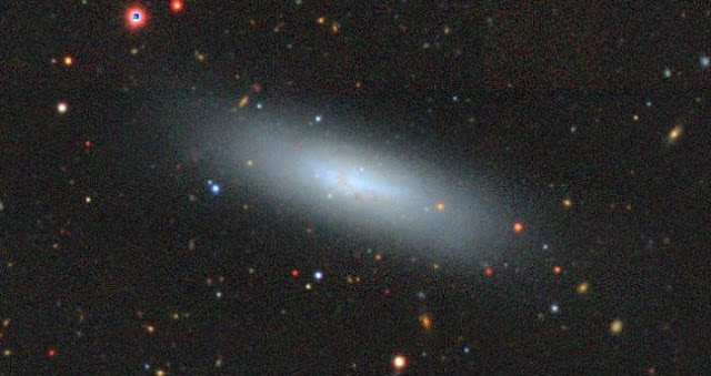 An example of the baryonic-dominated dwarf galaxies-UGC7920. Credit: DECaLS-DR8