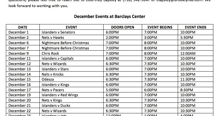 barclays center releases december 2017 event calendar 20 events plus nonticketed ones like
