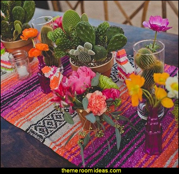 Traditional Falsa Mexican Blanket Table Runner (Pink/Orange)   Southwestern - American Indian theme bedrooms - mexican rustic style decor - wolf theme bedrooms - Santa Fe style - wolf bedding - Tipis, Tepees, Teepees - Decal sticker wolf - wolf wall mural decals - birch tree branches - cactus decor - Aztec print