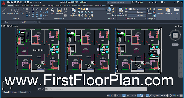 Village House Plans with AutoCAD Files 40 x 40