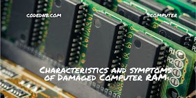 Characteristics and symptoms of Damaged Computer RAM