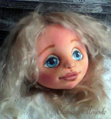текстильная кукла с объемным личиком