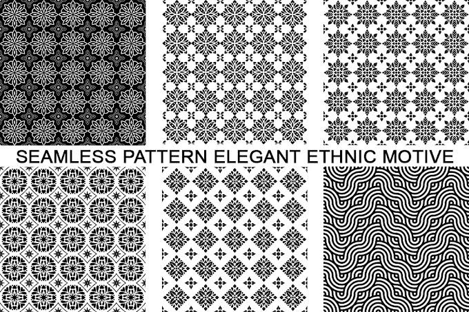 Seamless Pattern Elegant Ethnic Motive