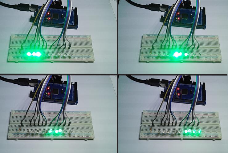 Led Runningint Code By Arduino Eleccircuitcom