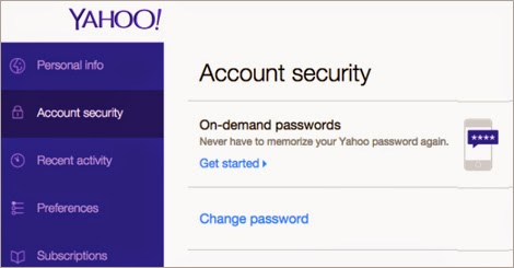 yahoo on demand passwords