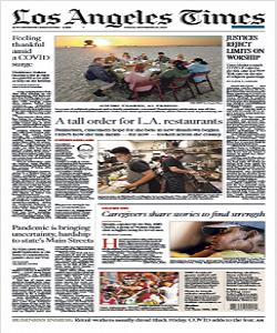 Los Angeles Times Magazine 27 November 2020 | Los Angeles News | Free PDF Download