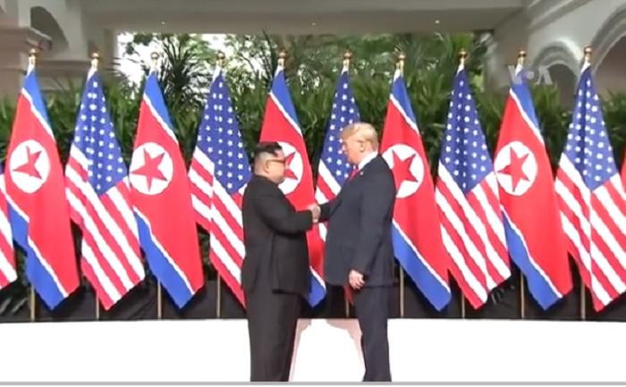 Durante dos días ambos presidentes fueron centro de atención mundial en Singapur / VOA