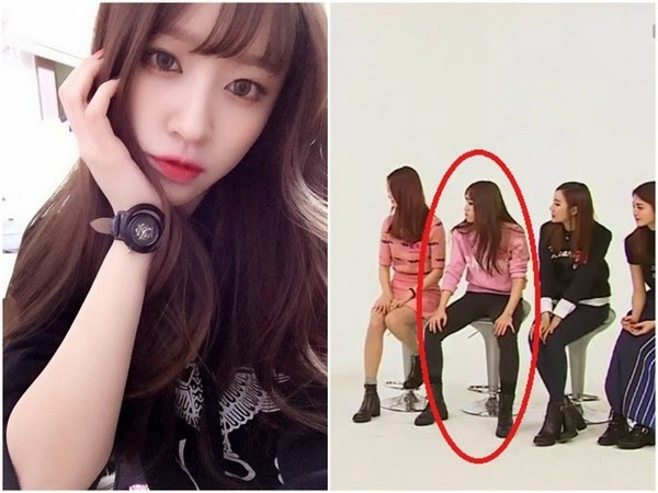 EXID's Hani, manly sitting posture!
