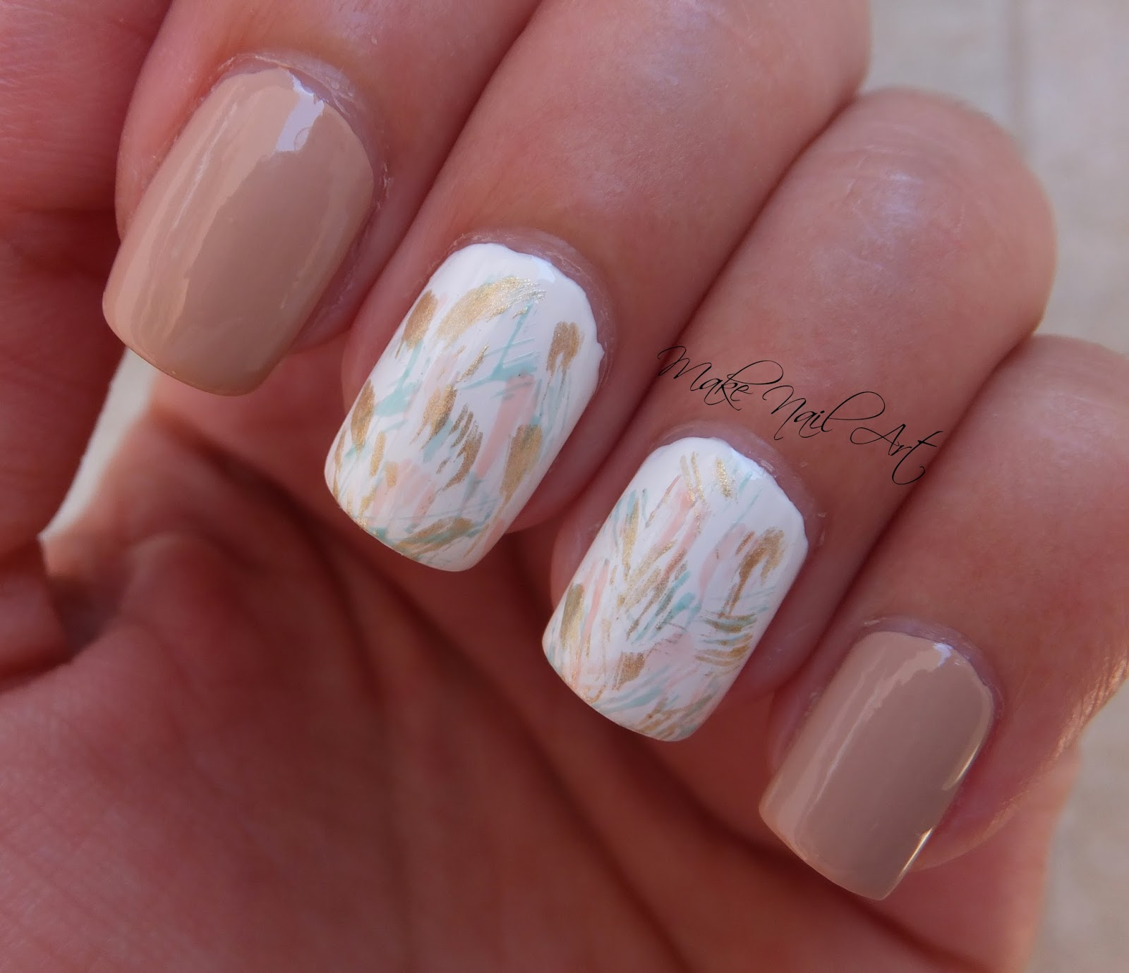 Make Nail Art Pastel Brush Strokes Nail Art Design Tutorial