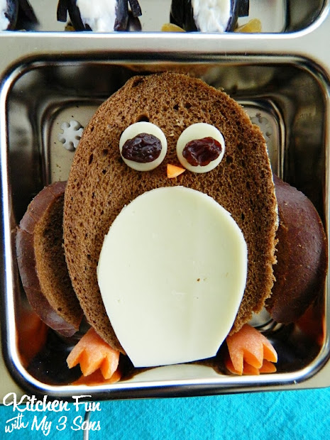 Penguin Bento Lunch In Planetbox - Kitchen Fun With