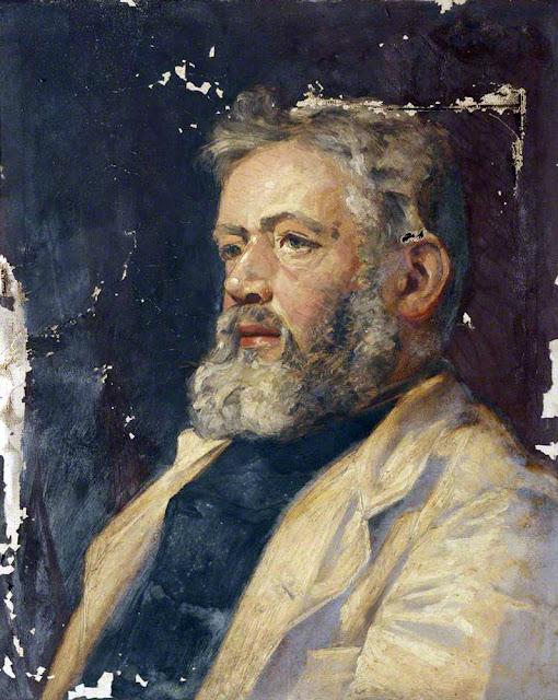 William Gershom Collingwood, Self Portrait, Portraits of Painters, William Gershom, Fine arts, Portraits of painters blog, Gershom Collingwood, Paintings of William Gershom, Painter  William Gershom,