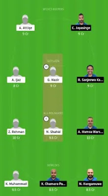 VCC vs GHC Dream11 team prediction