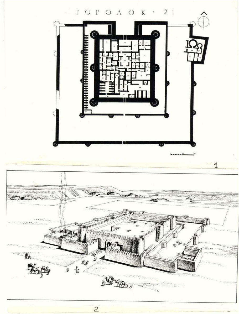 fig 1 temple of togolok 21 plan no 1 and reconstruction no 2