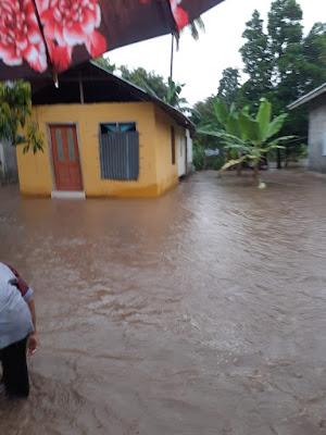 Rumah warga Usar Mapin tergenang air