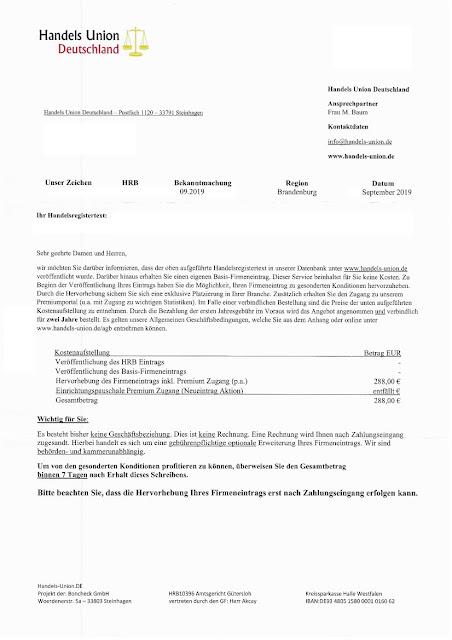 scan: Offerte Handels Union Deutschland / Sep 2019