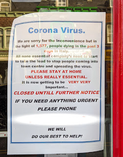 Photo of a notice in a local shop window