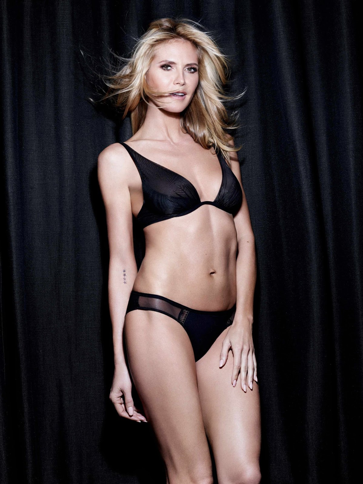 Heidi Klum strips to lingerie for Intimates Campaign Fall/Winter 2016