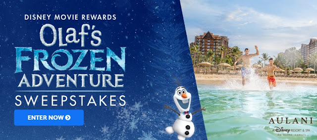 DISNEY OLAF'S FROZEN ADVENTURE SWEEPSTAKES