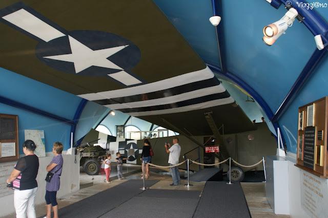 Interno del Museo dell'aviazione e aliante