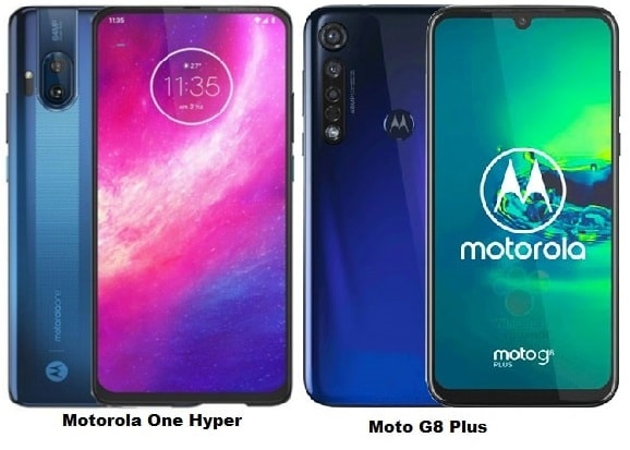 Compare Motorola One Hyper Vs Motorola Moto G8 Plus