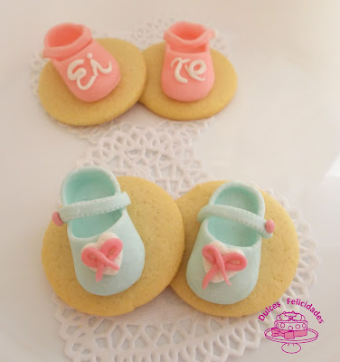 Galletas de zapatitos de fondant