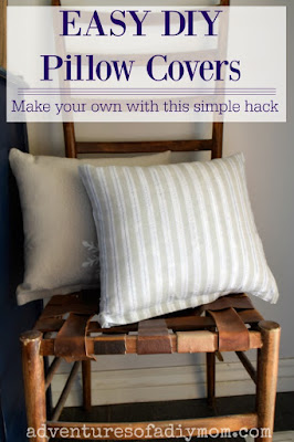 Easy DIY Pillow covers with this simple hack